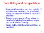 data hiding and encapsulation
