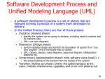 software development process and unified modeling language uml