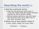 describing the world 1