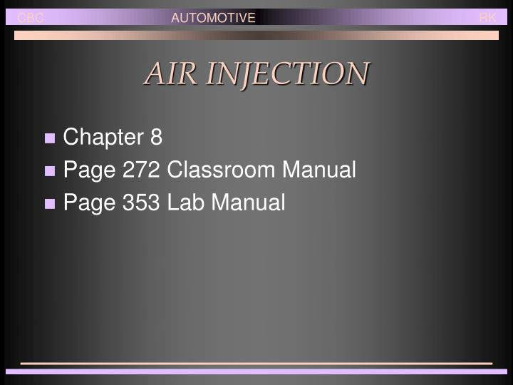 air injection n.