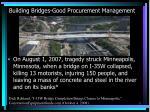 building bridges good procurement management