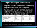 improved project performance