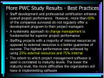 more pwc study results best practices