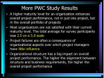more pwc study results