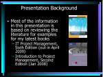 presentation background