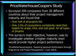 pricewaterhousecoopers study
