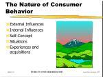 the nature of consumer behavior