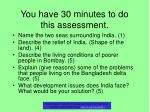 you have 30 minutes to do this assessment