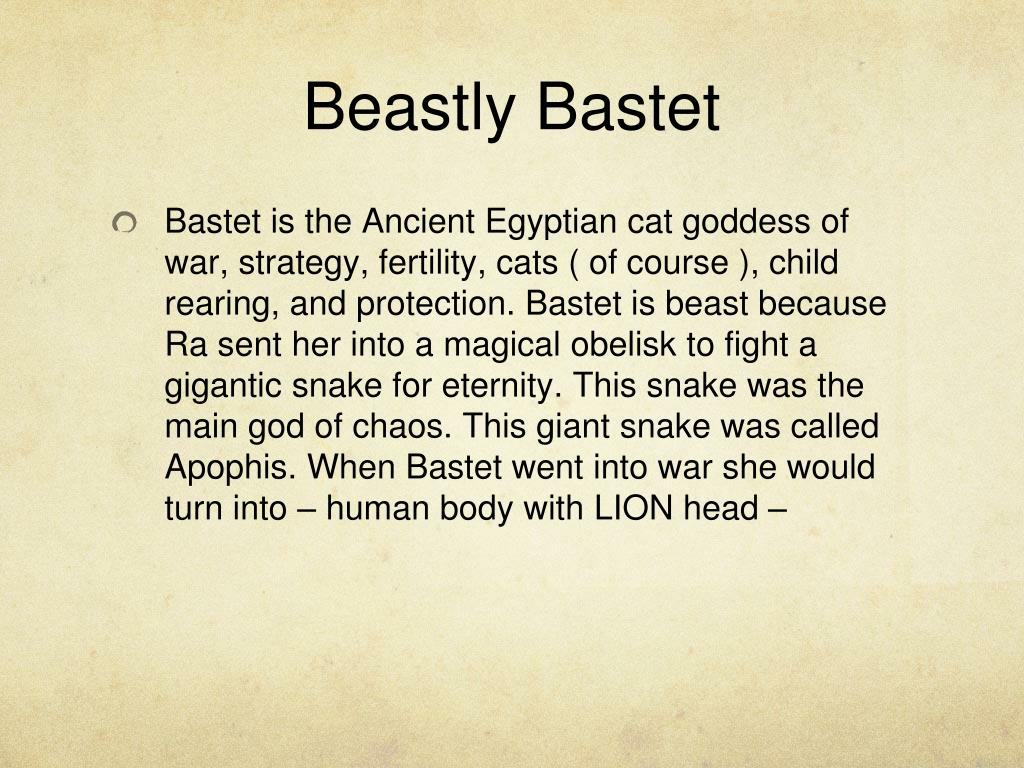 PPT - Bastet the goddess of cats PowerPoint Presentation