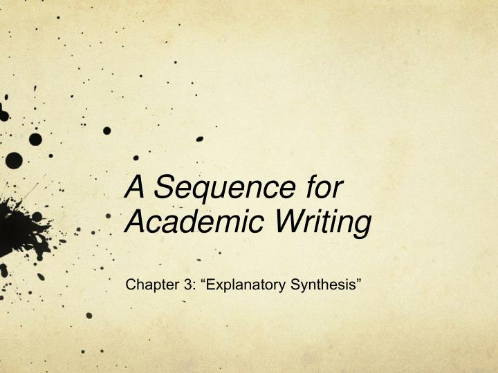 a sequence for academic writing n.