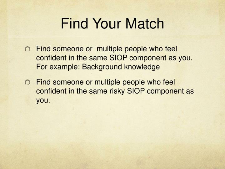 Find Your Match