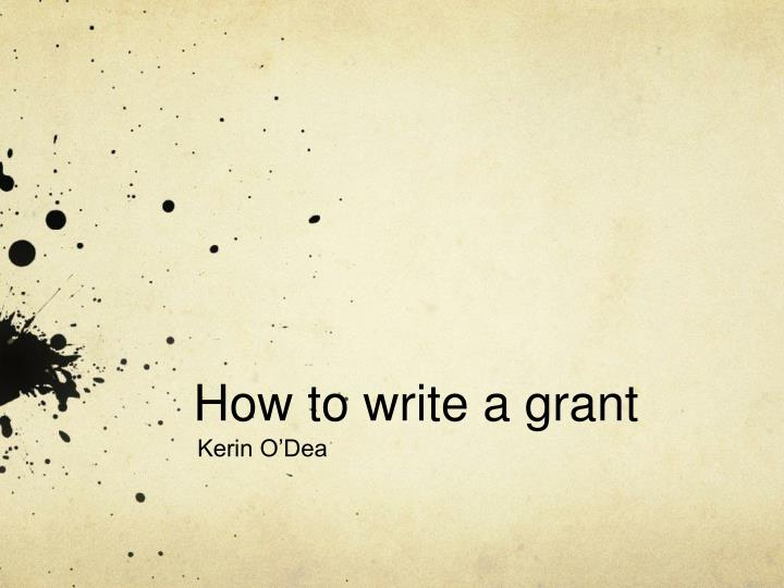 how to write a grant n.