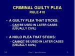 criminal guilty plea rule 410