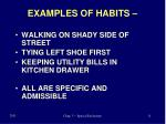 examples of habits