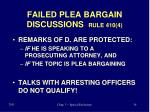 failed plea bargain discussions rule 410 4