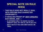 special note on rule 404 b
