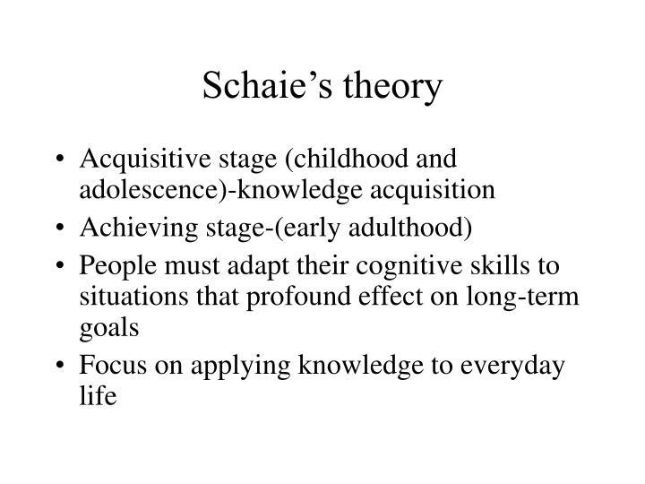 Schaie s theory