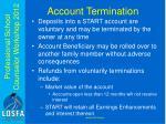 account termination