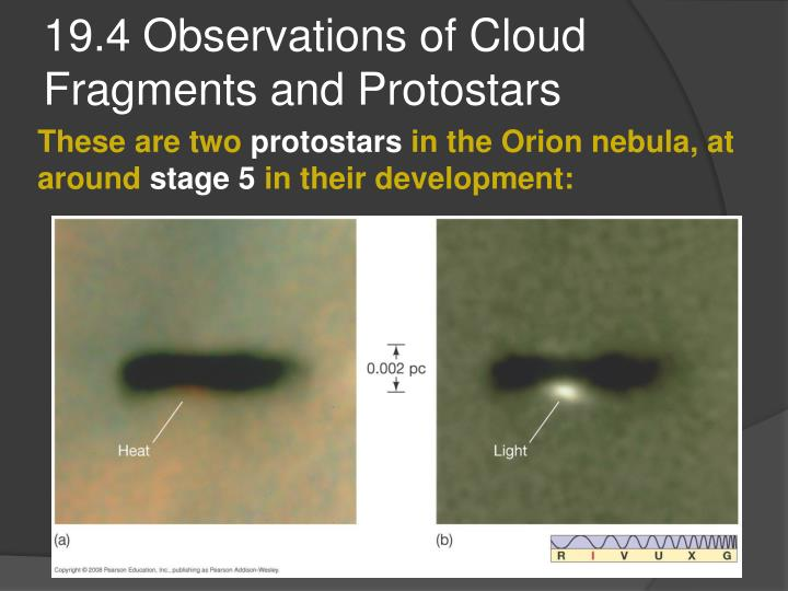 19.4 Observations of Cloud Fragments and Protostars