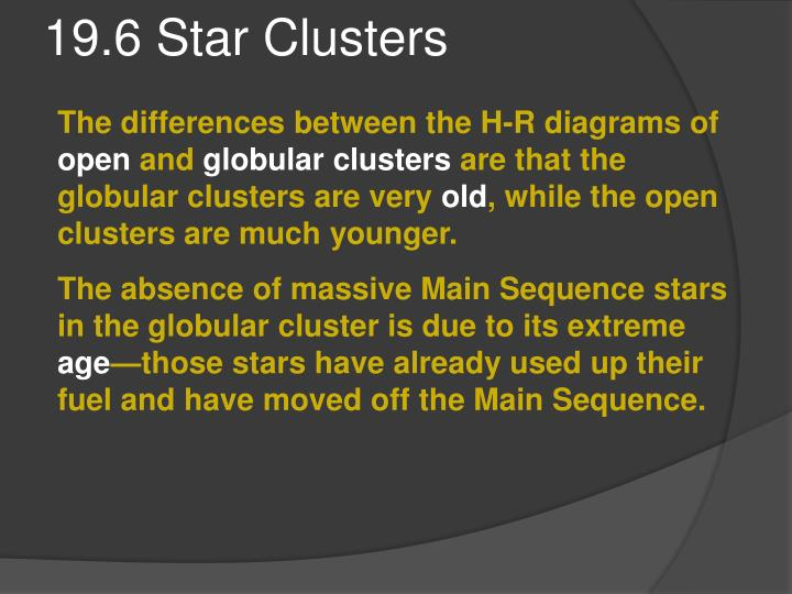19.6 Star Clusters