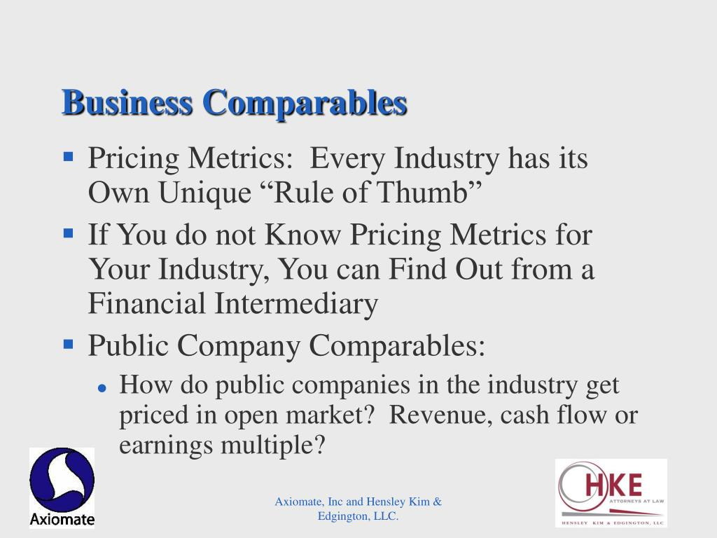 Business Comparables