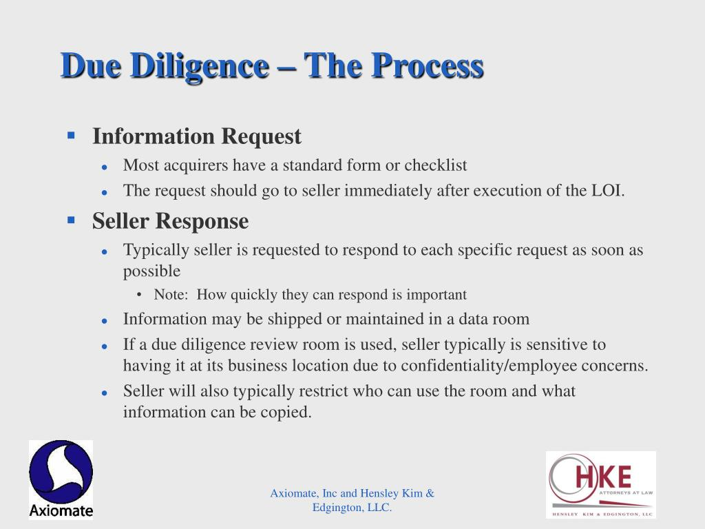 Due Diligence – The Process