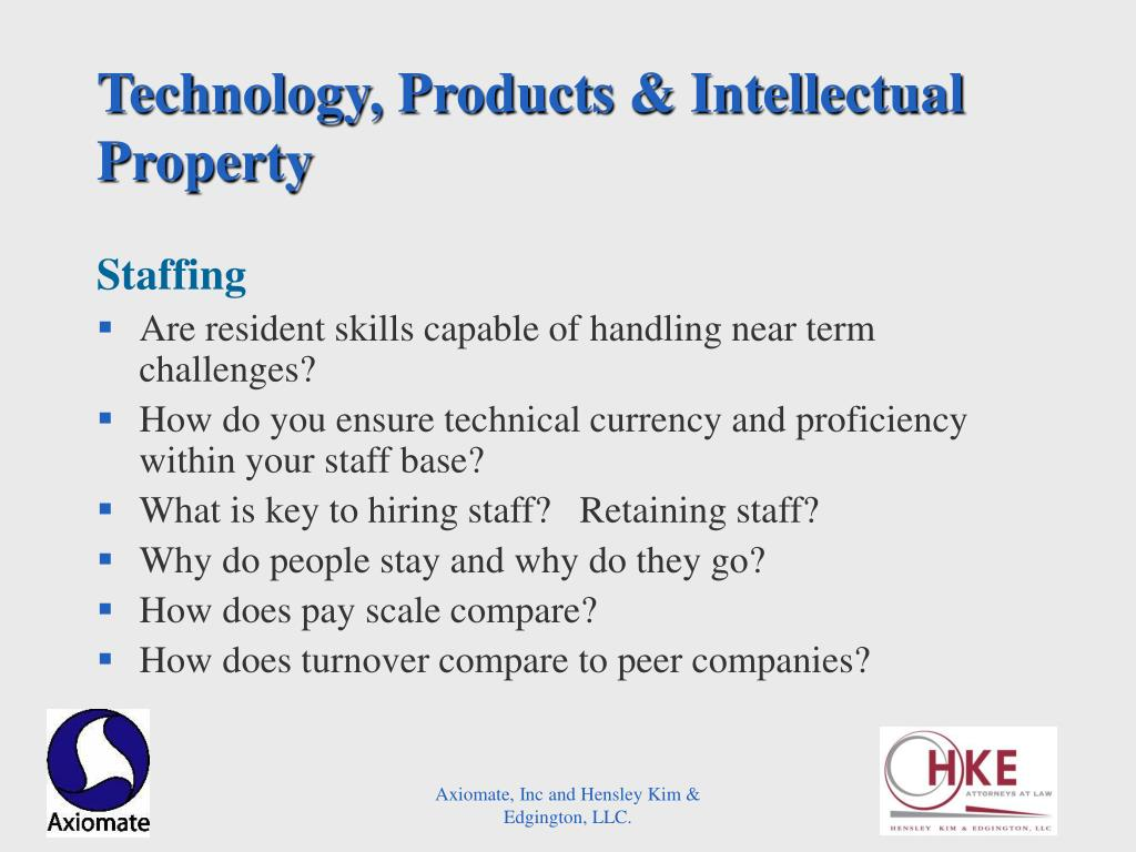 Technology, Products & Intellectual Property