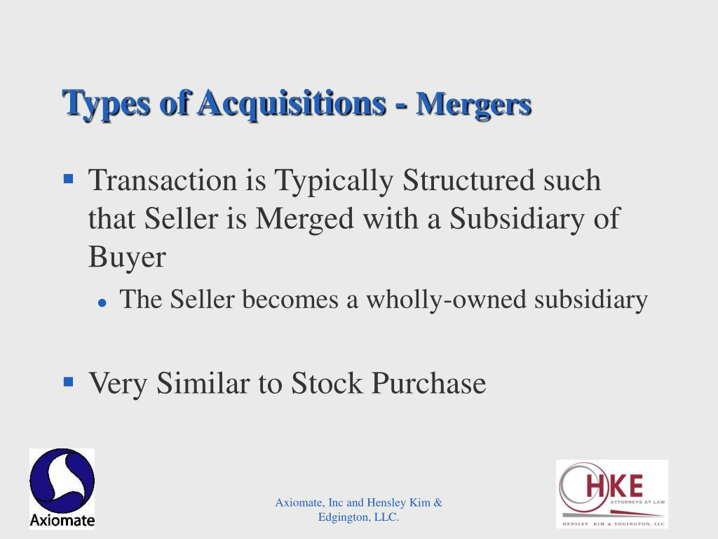 Types of Acquisitions -