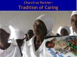 church as partner tradition of caring