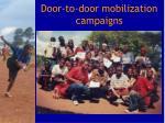 door to door mobilization campaigns