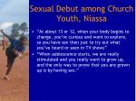 sexual debut among church youth niassa1