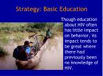 strategy basic education