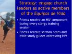strategy engage church leaders as active members of the equipas de vida