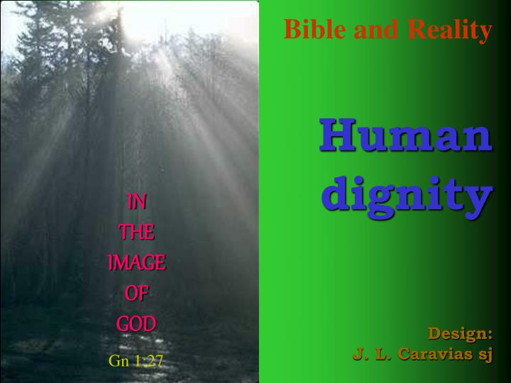 bible and reality human dignity design j l caravias sj n.