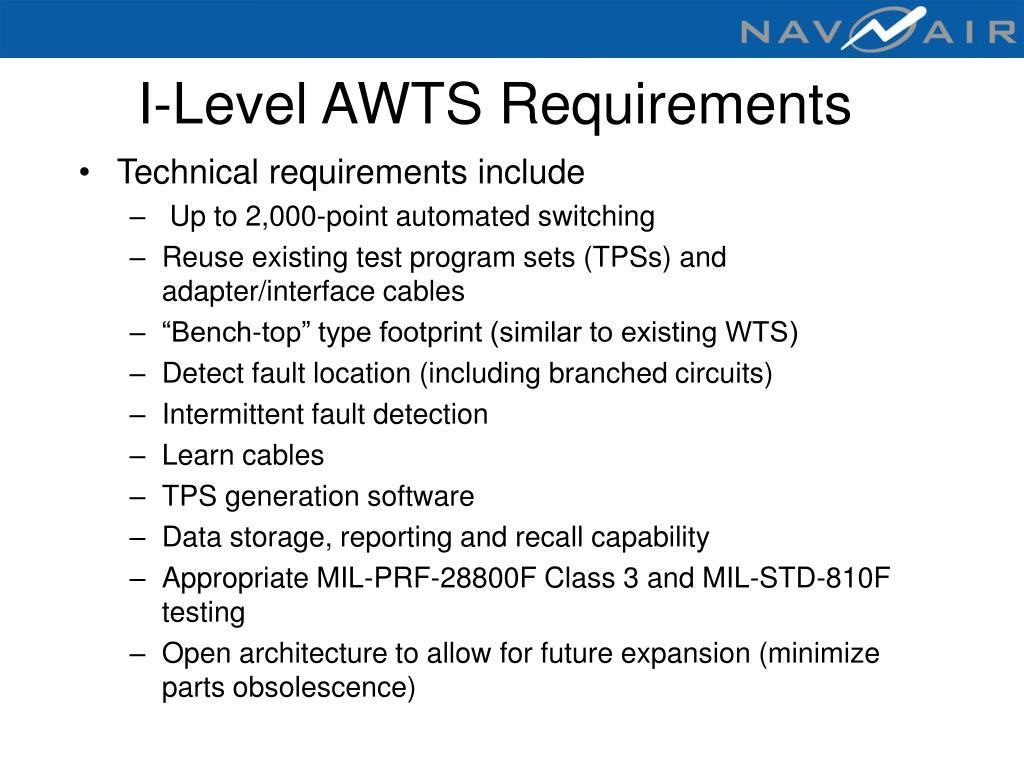 I-Level AWTS Requirements