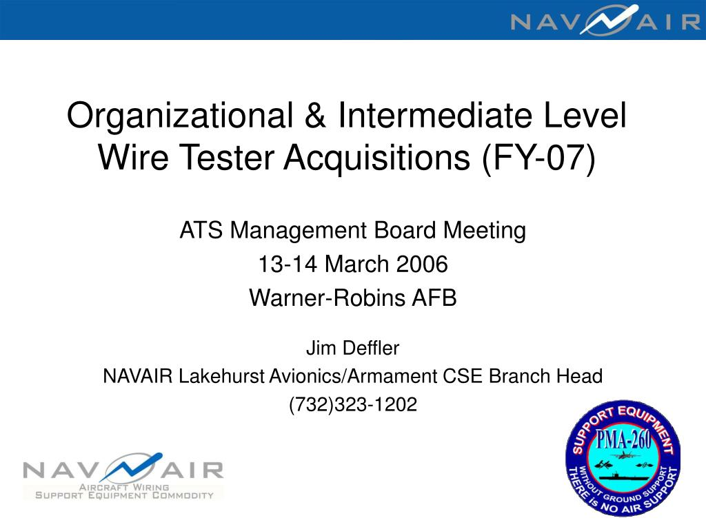 organizational intermediate level wire tester acquisitions fy 07 l.