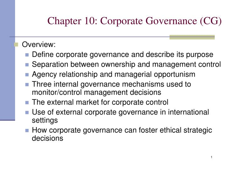 chapter 10 corporate governance cg n.