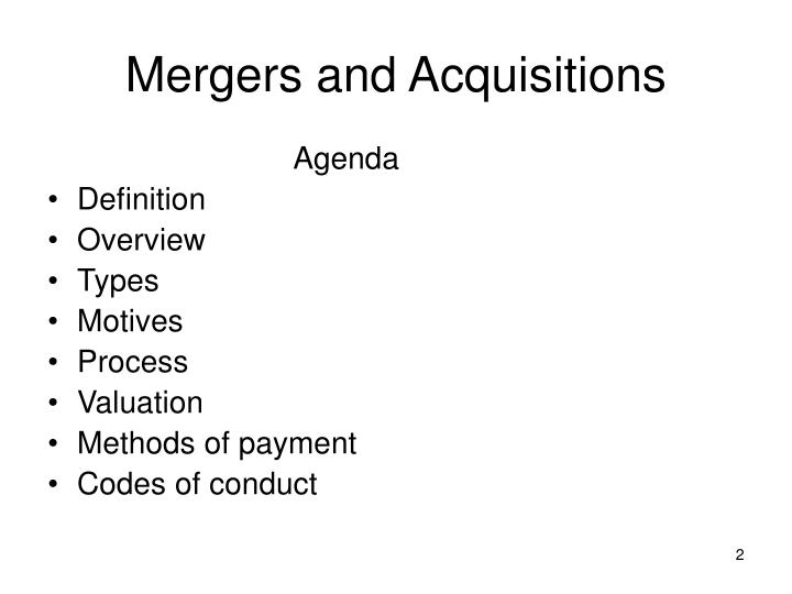 motives of merger