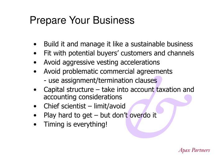 Prepare Your Business
