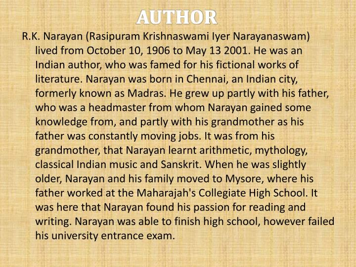 a horse and two goats essay A horse and two goats, rk narayan - informative & researched article on a   my favourite author chetan bhagat essay about myself my favourite author.