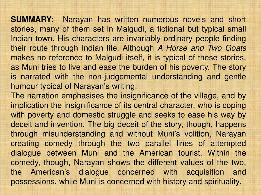 A Horse And Two Goats By Rk Narayan Download