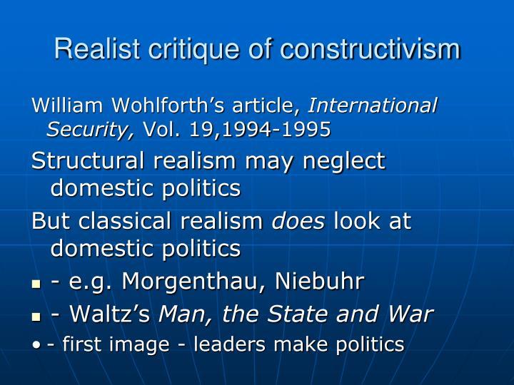 Realist critique of constructivism
