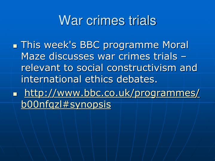 War crimes trials