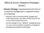 miles snow s adaptive strategies cont1