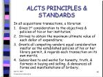alcts principles standards