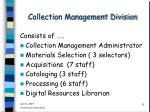 collection management division