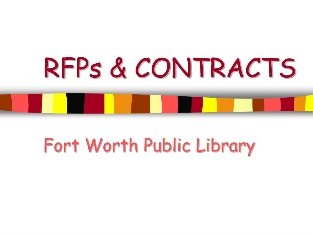 RFPs & CONTRACTS