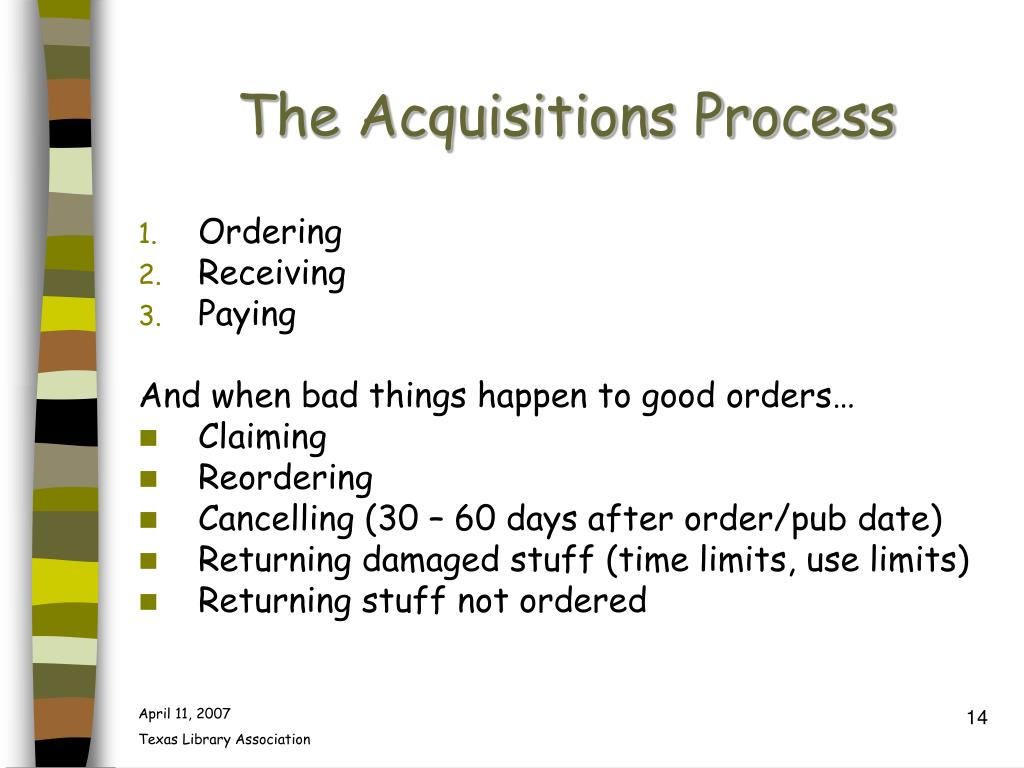 The Acquisitions Process