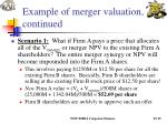 example of merger valuation continued19