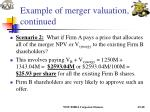 example of merger valuation continued20